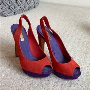 orange and purple heels